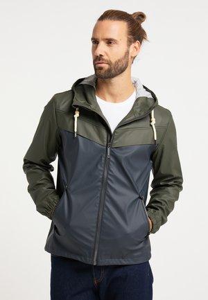 Waterproof jacket - oliv dunkelmarine