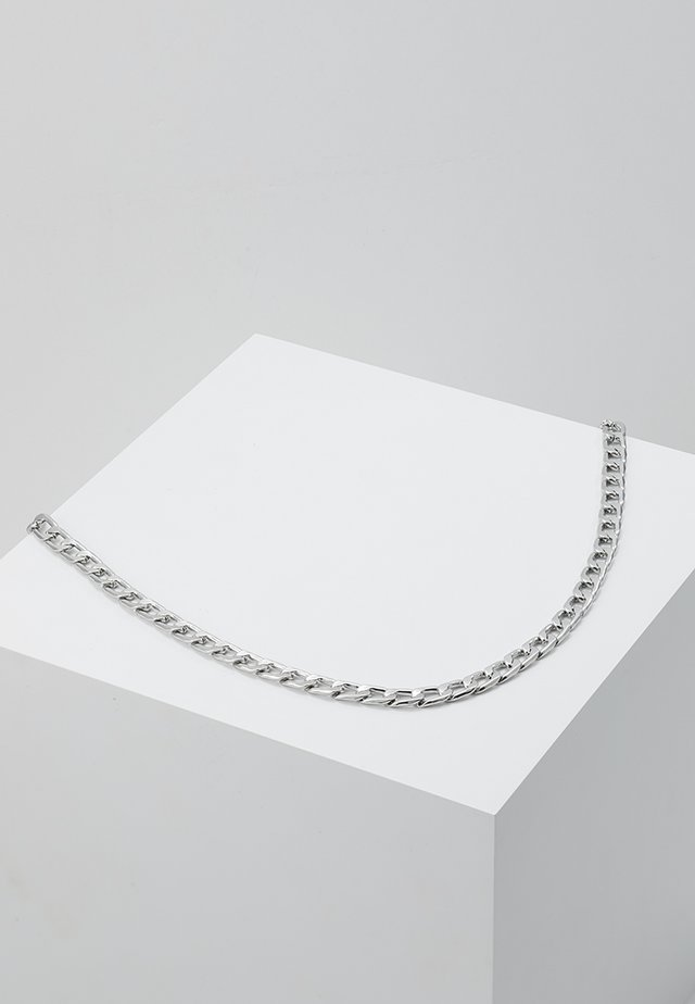 CLEAN FLAT CHAIN - Naszyjnik - silver-coloured