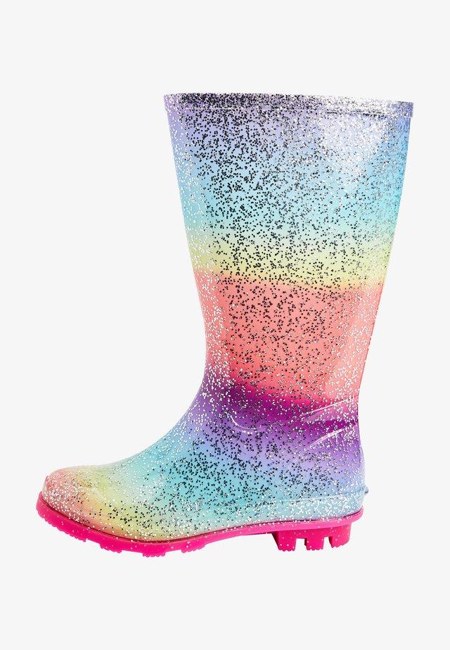 RAINBOW GLITTER - Wellies - multi-coloured