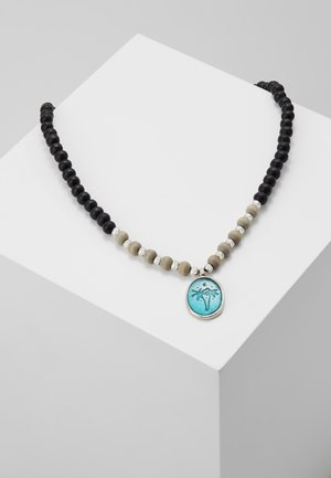 WASH OUT BEADED NECKLACE - Collana - black