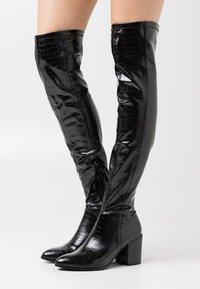 Steve Madden - JACEY - Kozačky nad kolena - black - 0