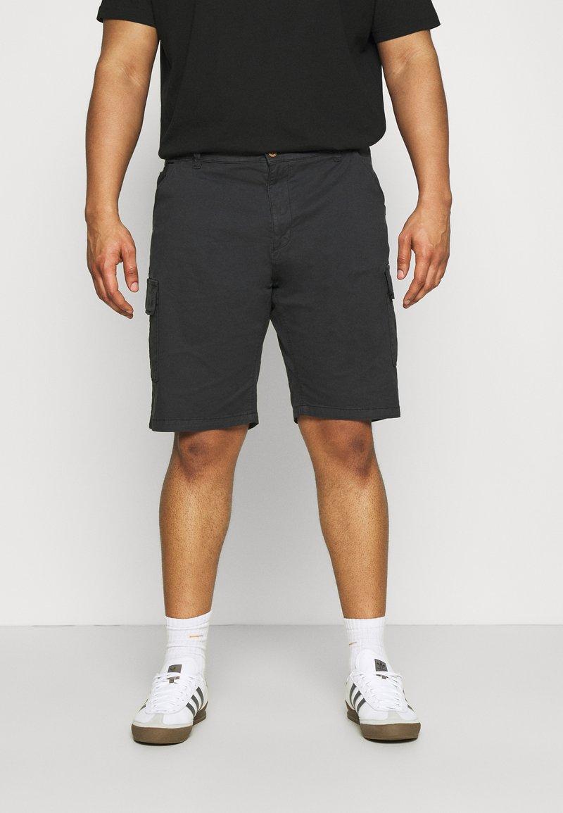 INDICODE JEANS - ATHLONE PLUS - Shorts - black