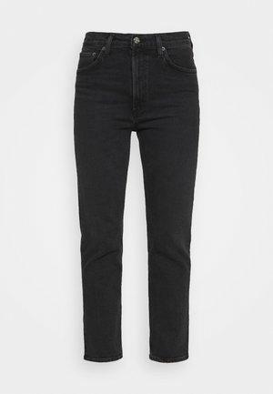 WILDER  - Straight leg -farkut - washed black