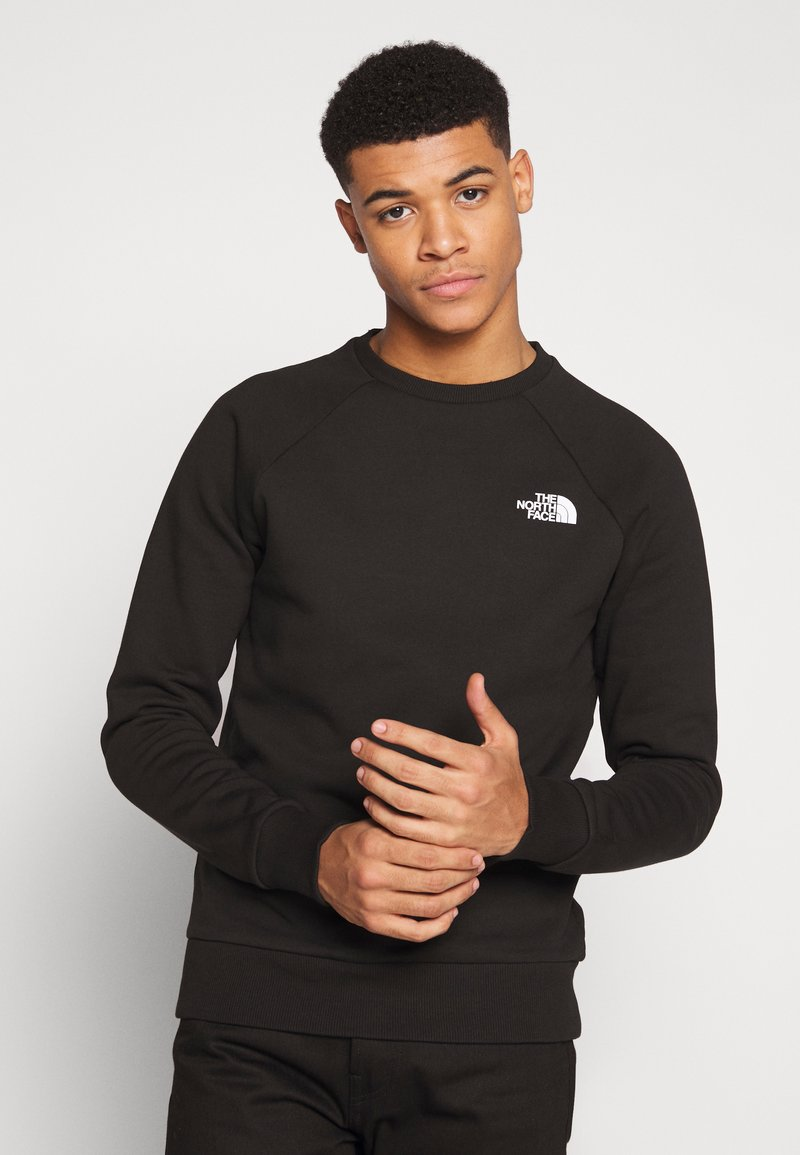 The North Face - RAGLAN BOX CREW - Mikina - black/white