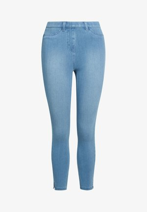 JERSEY CROPPED  - Leggings - Trousers - mottled blue