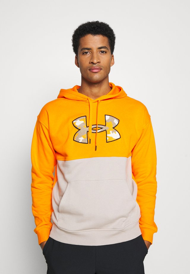 RIVAL COLORBLOCK - Sweat à capuche - vibe orange