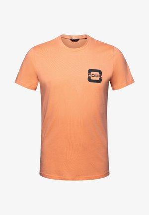 SALTWATER - Print T-shirt - papaya