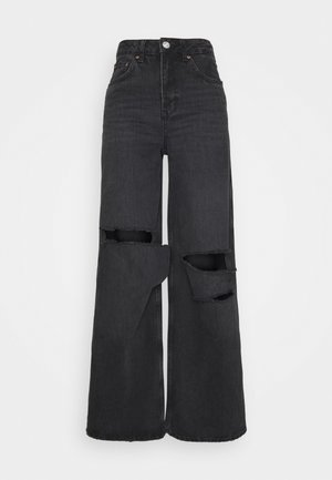 RIPPED PUDDLE - Relaxed fit jeans - washed black