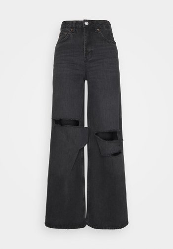 RIPPED PUDDLE - Džíny Relaxed Fit - washed black