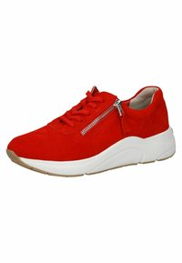 Caprice - Sneakers laag - red suede - 2