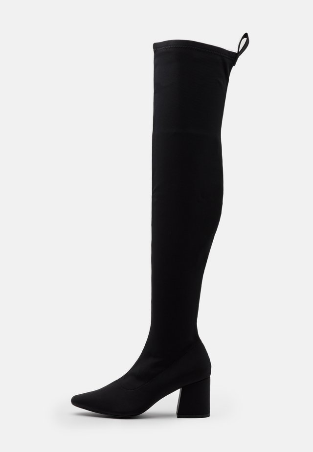 MID HEEL BOOTS - Over-the-knee boots - black