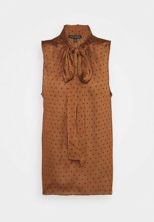 TIE NECK BLOUSE - Top - brown warm