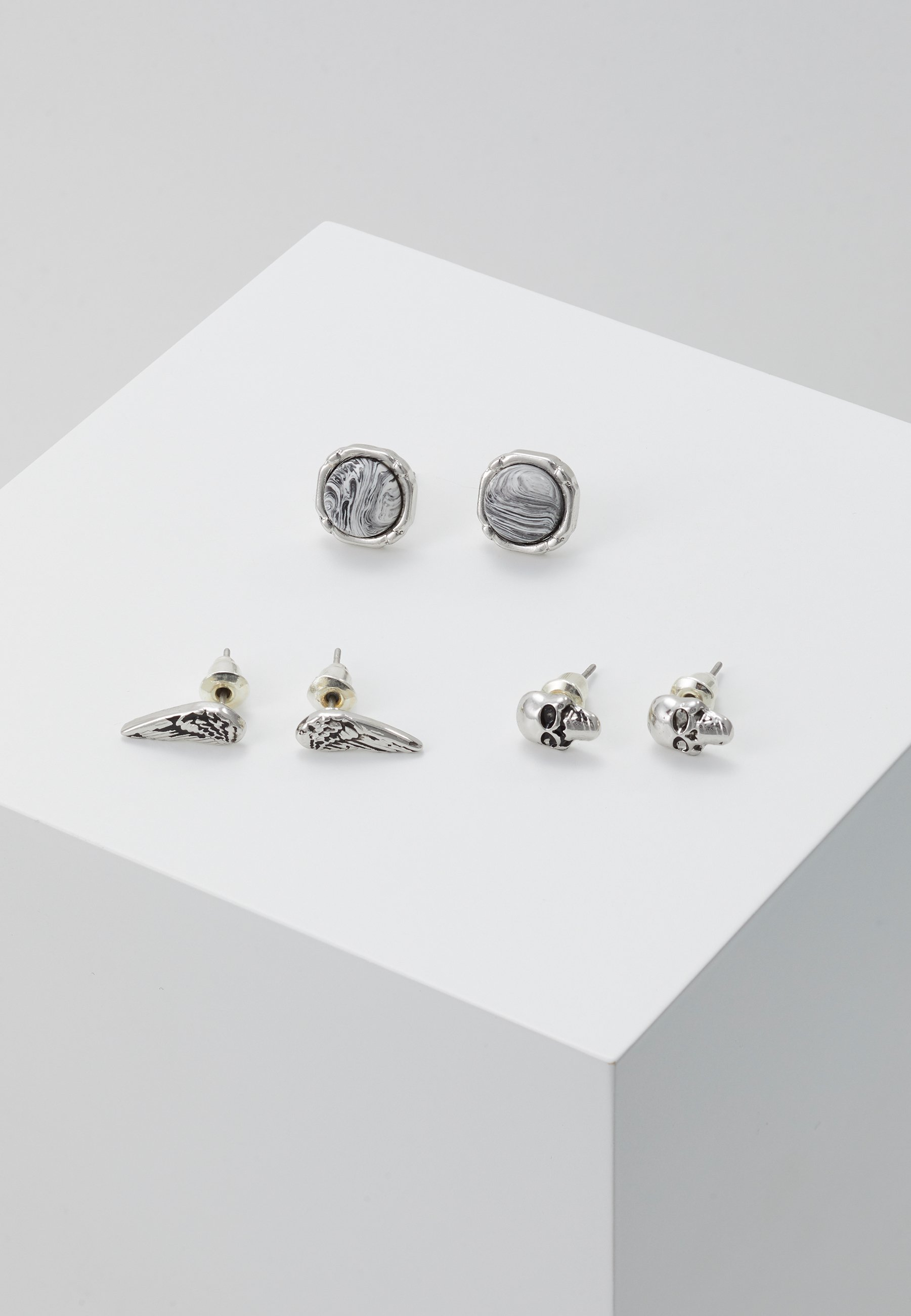 Homme SKULL AND WING STUD 3 PACK - Boucles d'oreilles