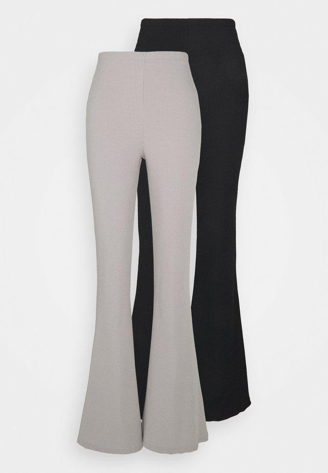FLARE 2 PACK - Pantalon classique - black/grey