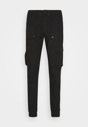 COURTNAULD - Cargo trousers - black