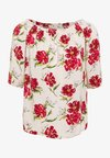 JDYSTARR LIFE 3/4 OFFSHOULDER - Blouse - shell/barbados cherry big flower