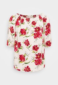 JDY - Blouse - shell/barbados cherry big flower - 4