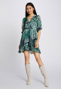 Morgan - WITH ABSTRACT PRINT - Day dress - dark blue - 1
