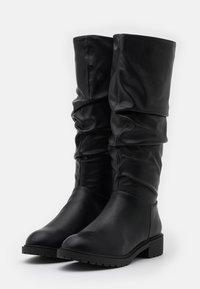 New Look Wide Fit - WIDE FIT CLOUD SLOUCH KNEE HIGH  - Laarzen - black - 2