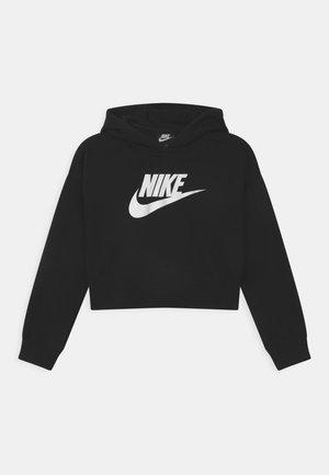 PLUS CLUB CROP HOODIE - Sweatshirt - black/white