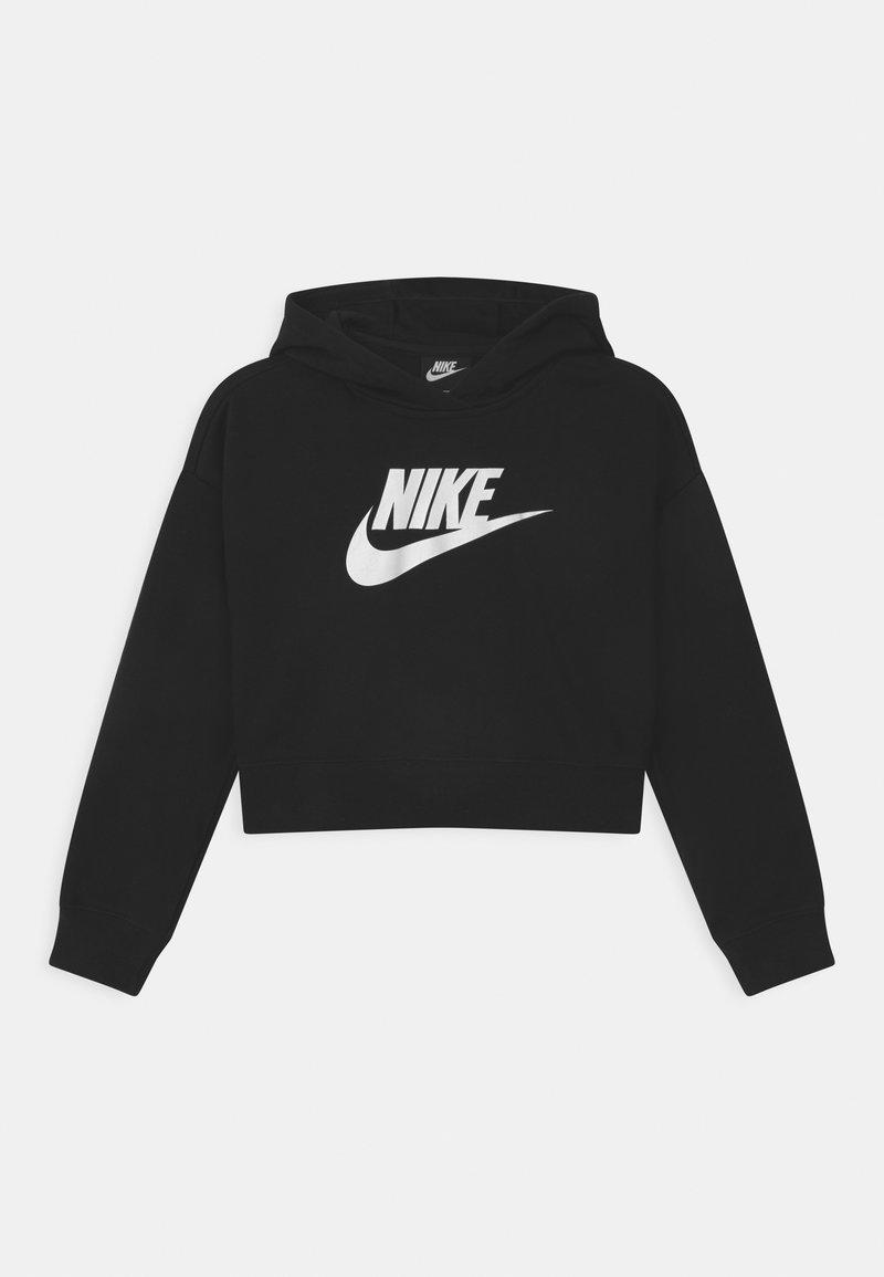 Nike Sportswear - PLUS CLUB CROP HOODIE - Bluza - black/white