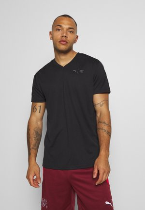 FIRST MILE TEE - T-shirt con stampa - puma black