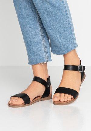 WIDE FIT FRANCINE - Sandals - black