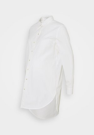 PCMNOMA LONG SHIRT - Button-down blouse - cloud dancer