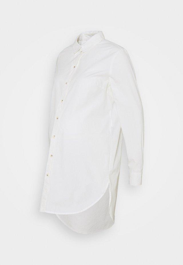 PCMNOMA LONG SHIRT - Overhemdblouse - cloud dancer