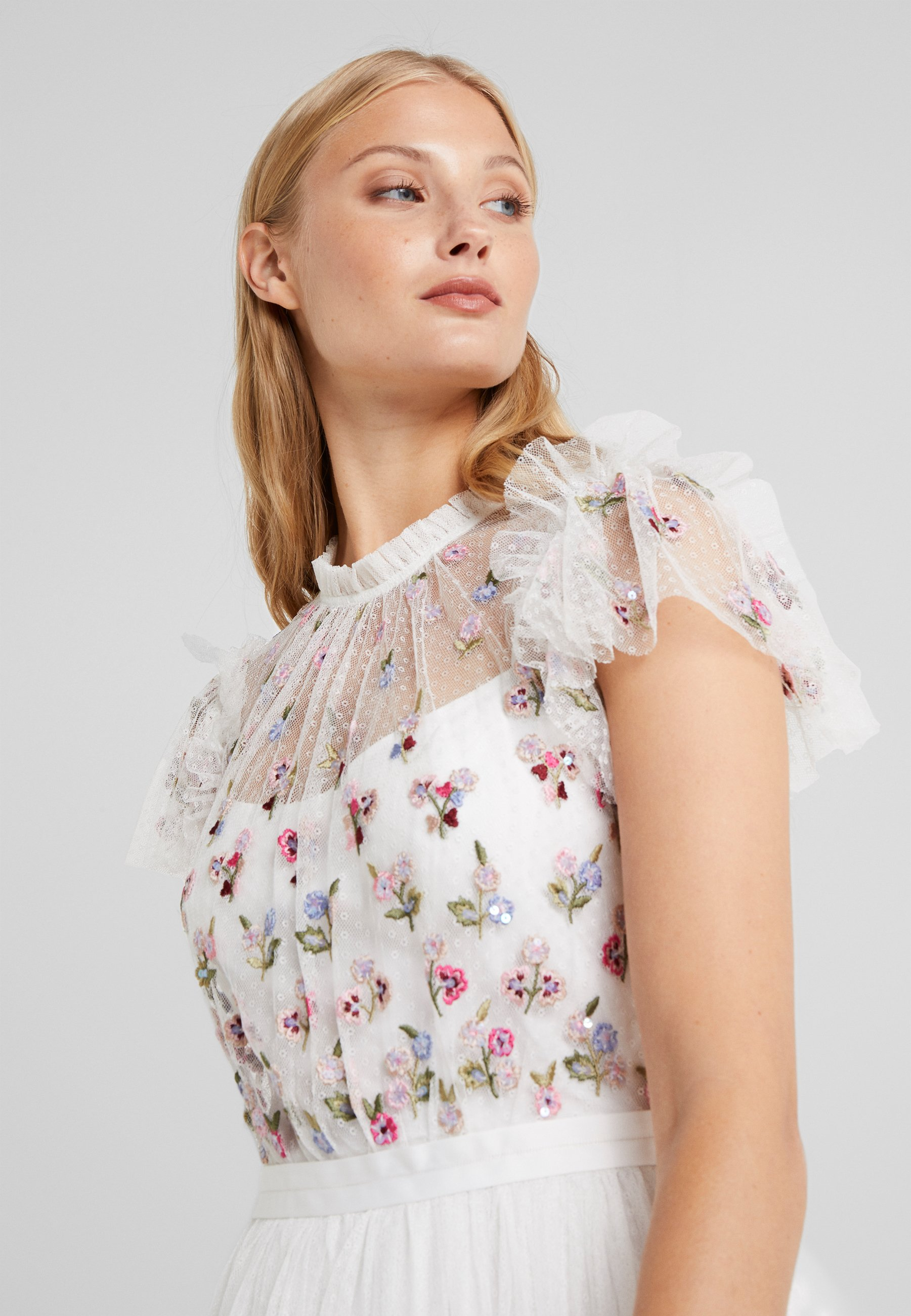Needle & Thread ROCOCO BODICE MIDI DRESS - Cocktailkjole - ivory