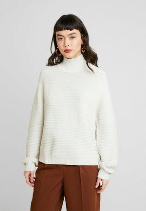 LENE TURTLENECK - Stickad tröja - white asparagus
