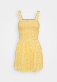 Hollister Co. - WEBEX BARE SMOCKED TIEBACK ROMPER - Overal - yellow - 6