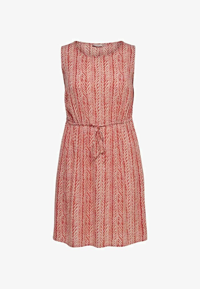 Korte jurk - cinnabar