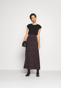Anna Field - BASIC - Maxi skirt - Maxi sukně - black/rose - 1