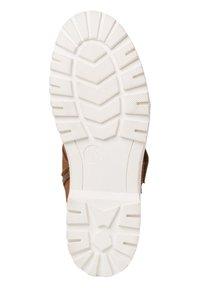 Jana - Lace-up ankle boots - cognac - 4