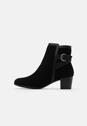 LEATHER - Korte laarzen - black