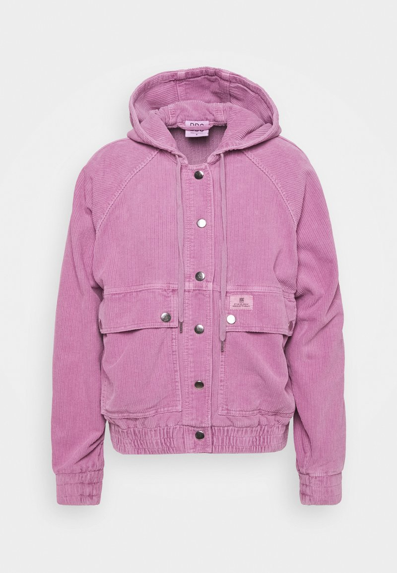 BDG Urban Outfitters - HOODED JACKET - Light jacket - pink