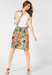 Cecil - A-line skirt - orange - 1