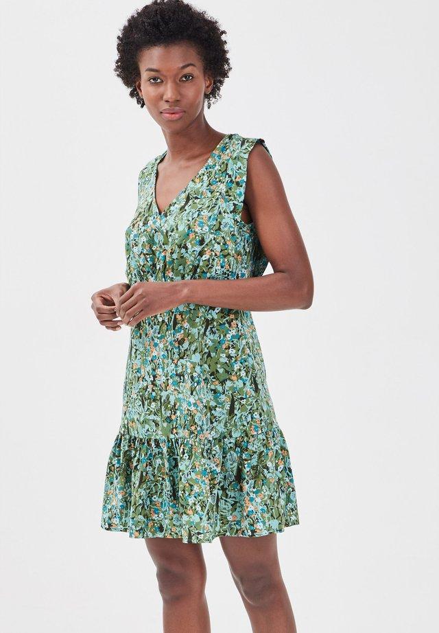 Korte jurk - vert kaki