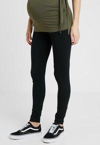 MAMALICIOUS - MLLEA LONG 2 PACK - Leggings - Trousers - black - 2