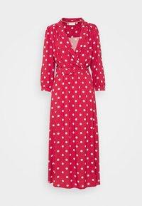 Maxi dress - garnet rose/sand