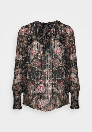 PAISLEY BLOUSON - Long sleeved top - black