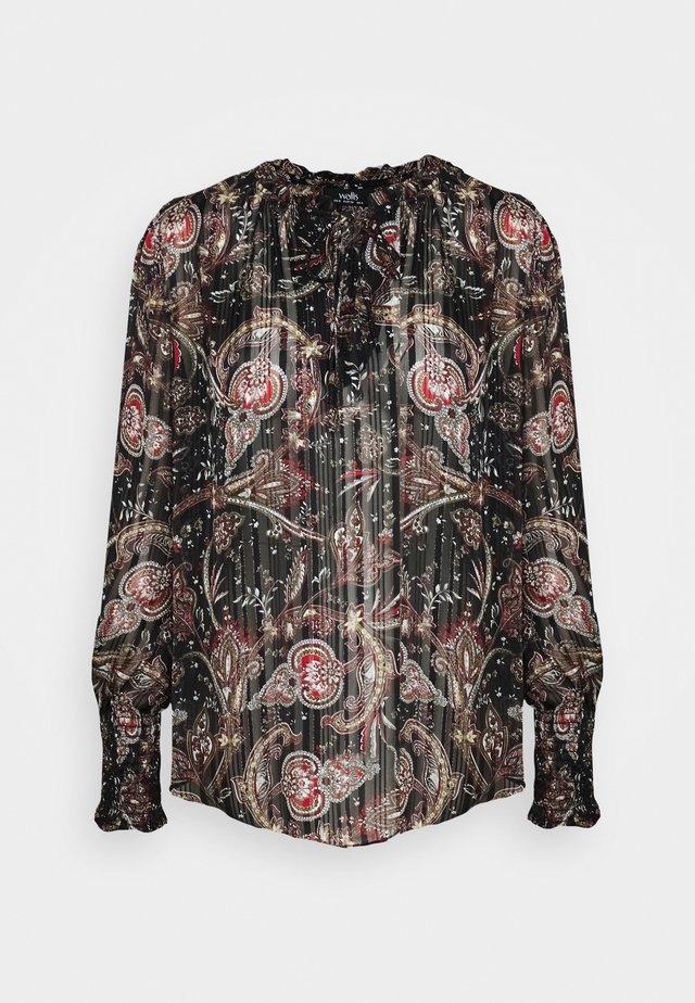 PAISLEY BLOUSON - Bluzka z długim rękawem - black