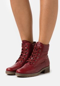 Gabor Comfort - Lace-up ankle boots - dark red - 0