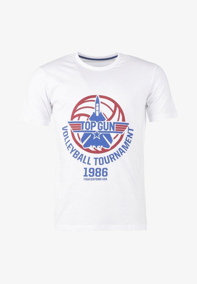 MIT SCHÖNEM DESIGN  - Print T-shirt - white