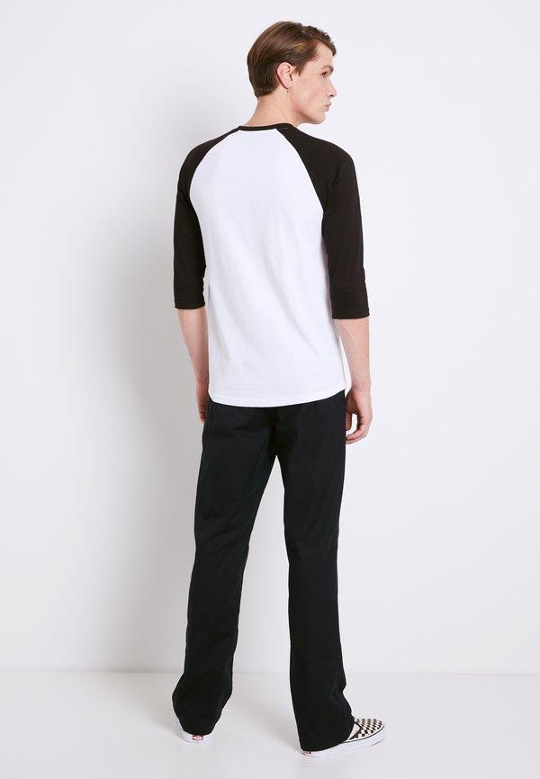 Vans CLASSIC RAGLAN CUSTOM FIT - Bluzka z długim rękawem - white/black/biały Odzież Męska LMUA