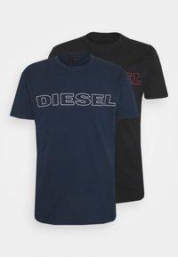 Diesel - 2 PACK - Print T-shirt - blue/black - 5