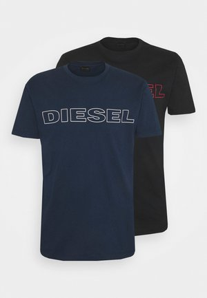 2 PACK - Print T-shirt - blue/black
