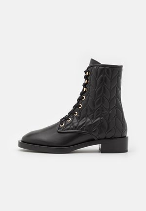 TYLER BOOTIE - Lace-up ankle boots - black