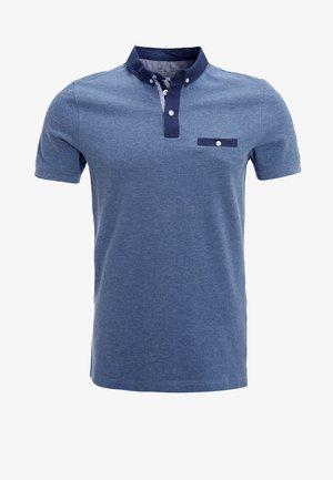 Polo shirt - blue melange